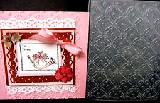 Elegant VINTAGE CIRLCES DIAMONDS DOTS embossing folder + Stampin Up