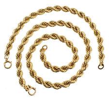 """Chain Necklace & Bracelet 15.5"""" 69.1 Grams Vintage 12K Gf Gold Filled Twist 6Mm"""
