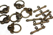 10pc Antique Bronze Toggle Clasps 18x19mm 1-3 day Shipping