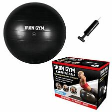 Iron Gym Exercise Ball 55cm Swiss Yoga Training Fitness Workout Core With Pump