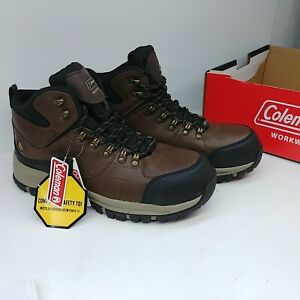 Coleman Mens Ankle Work Boot Terrance Composite Safety Toe Workwear Leather