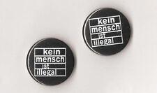 1x Kein Mensch ist illegal Button Punk Anti Nazi Gegen Nazis Antifa Antiracist