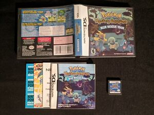 Pokemon Mystery Dungeon Blue Rescue Team - Nintendo DS - Complete in Box - Works