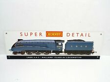 "VINTAGE HORNBY MALLARD A4 DEALERS SHOP HANGING SIGN 2FT X 7""  EXCELLENT (B170)"