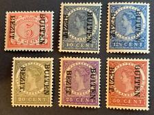 Nederlands Indië 86f,88f, 89f, 92f, 94f en 96f BUITEN BEZIT Kopstaand Ongebruikt