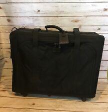 TUMI Nylon Black Suitcase With Garmet/Laundry Bag 4 Wheels 27x21x9 Vintage Rare