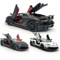 1:32 Lamborghini Aventador SVJ 63 Model Car Diecast Toy Vehicle Pull Back Kids