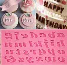 1PC Silicone Alphabet Letter Trays Chocolate Mold Cake Fondant Decorating Tools