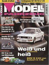 Zeitschrift Modell Fahrzeug 3 2007 Yamaha SR 500 Audi R8 A5 MB Trac BMW M 535i