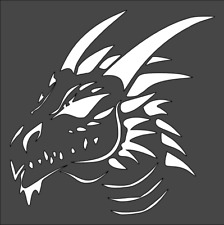 1- 5.5x5.5 inch Custom Cut Stencil, (ZG-5) Dragon, Free Shipping