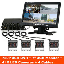 Truck Van Bus 4CH  720P 4G Wireless GPS Realtime Video Recorder Box w/ 4 Camera