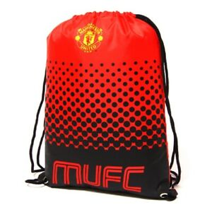 Manchester United Gymbag Kids PE Kit Bag Red MUFC Man Utd