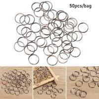 Steel Alloy Keyring Circle Loop Keychain Ring Key Hooks Pendant Gadget
