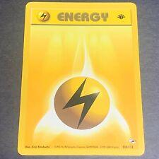 Pokemon 1st Ed. Gym Heroes Set COMMON Lightning Energy 130/132 - Near Mint (NM)