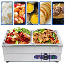More details for 2 basins electric commercial heat thermal insulation soup pool food warmer 1500w