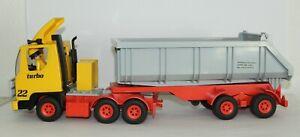 Playmobil Sattelschlepper Mulde Truck LKW Mammut Anhänger