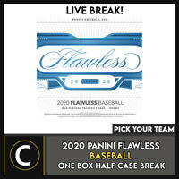 2020 PANINI FLAWLESS BASEBALL 1 BOX (HALF CASE) BREAK #A1020 - PICK YOUR TEAM