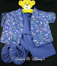 BLUE MEDICAL NURSE DOCTOR SCRUBS 4PC BUILD-A-BEAR RETIRED TEDDY COSTUME OUTFIT
