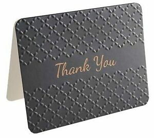 Hipp Thank You Cards Pack of 10 Foil Embossed - Black