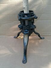 """VINTAGE NORTH BROS PHILLY INDUSTRIAL CAST IRON CHRISTMAS TREE STAND 10"""""""