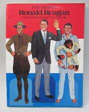 1984 Ronald Reagan Paper Dolls Book Uncut Tom Tierney Dover Books