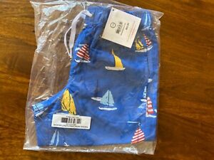 Hanna Andersson boys swim trunks sailboat NWT 120