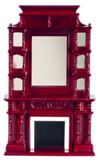 Dollhouse Miniature VictorianFireplace with Mirror