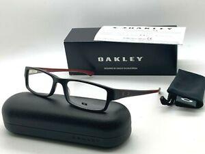 OAKLEY SERVO OX 1066 0453 BLACK BRICK /BURGUNDY 53-18-140MM Eyeglasses NIB