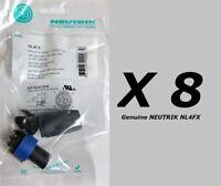 8 Pack GENUINE Neutrik NL4FX speakON 4 Pole speaker connectors FREE US Shipping