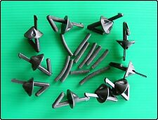 10 Black Impact Shields Line Clips - Sea Fishing Rigs Bait