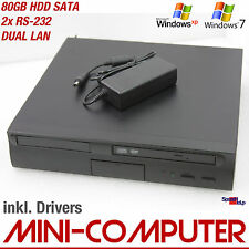 MINI COMPUTER PC 1500mhz Windows XP 7 80gb SATA DVD-ROM dual LAN RETE Quake