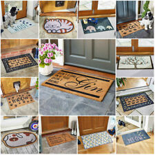 NEW Natural Coir Non Slip Welcome Floor Entrance Door Mat Indoor Outdoor Novelty