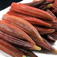 100 Rare Red Okra Seeds Gumbo Organic Vegetable Bulk Seed S013