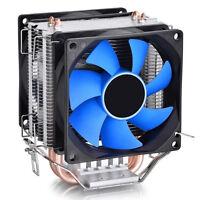New Dual Fan CPU Quiet Cooler Heatsink for Intel LGA775/1156 AMD HGUK