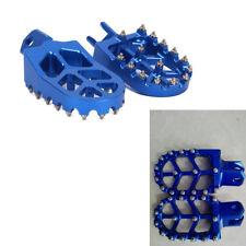 Blue Aluminum Foot Pegs Pedal Foot Rest For Suzuki RMX250 DRZ400 RM125 Dirt Bike