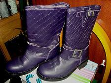 bottes E. COW tout terrain cheval cuir robuste violet foncé pt. 36
