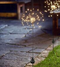 LED Solar Gartenstab Firework Gartenstecker 90 LED Gartendeko warmweiß IP44