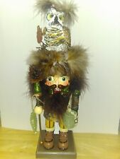 Kurt Adler Hollywood Owl Hat Woodsman Nutcracker, 16-Inch New