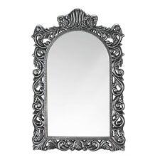 """Grand Silver Wall Mirror - 23"""" High - Wood / Mdf & Mirror"""