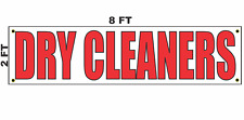 Dry Cleaners Banner Sign 2x8 for Business Shop Building Store Front