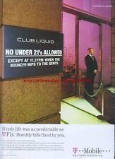 "T-Mobile ""Club Liquid"" 2005 Magazine Advert #3325"