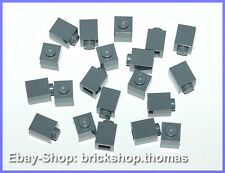 LEGO 20 x Basic pierres gris - 3005-Brick 1 x 1 Dark Bluish Gray-Neuf/New