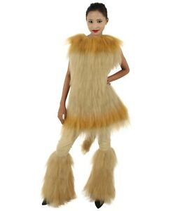 HPO Orange and Tan Lion Costume with Fir Boots  - Long Synthetic Fibers