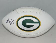 AARON JONES AUTOGRAPHED SIGNED GREEN BAY PACKERS WHITE LOGO FOOTBALL JSA