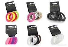 Spiral Hair Coil No Tangle Telephone Cord Wire Plastic Elastics Band Ponytail