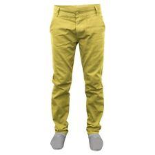 Mens Kushiro Chino Trousers 100%25 Cotton Pants Slim Fit Casual Straight Leg Jeans