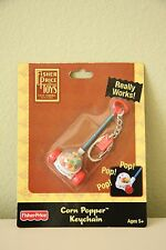 Collectible Fisher Price Corn Popper Keychain - HARD TO FIND - Brand New!!