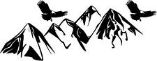 Eagles and Mountains wall mural vinyl decal