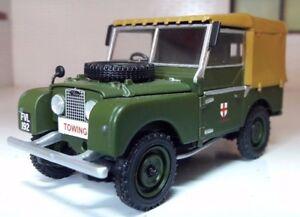 "1:43 Scale 1953 Land Rover Series 1 80"" Canvas Corgi Vanguards Diecast Model"
