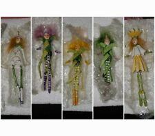 Krinkles Dept 56 mini FLOWER dewdrops ORNAMENTS Patience Brewster Set of 5 Lot